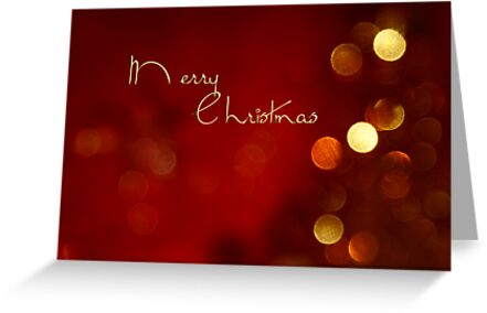 Merry Christmas bokeh card by 1001cards