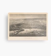 Vintage Pictorial Map of Toledo OH (1860) Metal Print