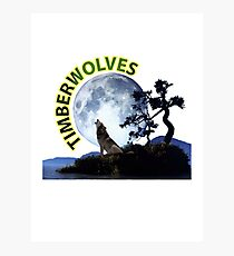Timberwolves Collectors T-shirts and Stickers Photographic Print