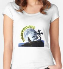 Timberwolves Collectors T-shirts and Stickers Women's Fitted Scoop T-Shirt