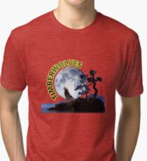 Timberwolves Collectors T-shirts and Stickers Tri-blend T-Shirt