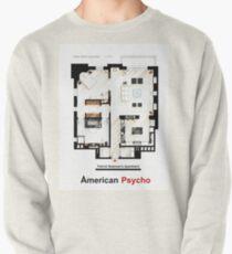 Floorplan of Patrick Bateman's apartment from AMERICAN PSYCHO Pullover