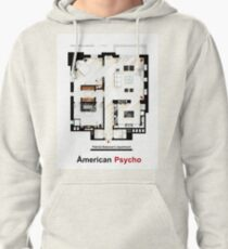 Floorplan of Patrick Bateman's apartment from AMERICAN PSYCHO Pullover Hoodie