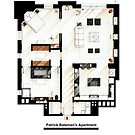 Floorplan of Patrick Bateman's apartment from AMERICAN PSYCHO by Iñaki Aliste Lizarralde