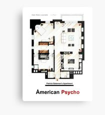 Floorplan of Patrick Bateman's apartment from AMERICAN PSYCHO Metal Print