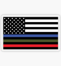 Police, Military and Fire Flag Transparent Sticker
