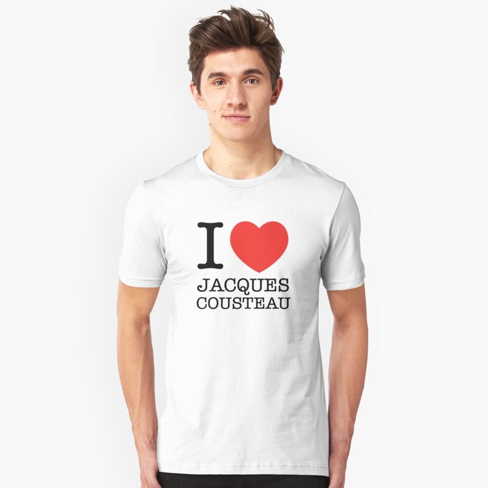 I Love Jacques Cousteau Slim Fit T-Shirt