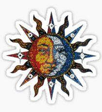 Himmlische Sonne und Mond Sticker