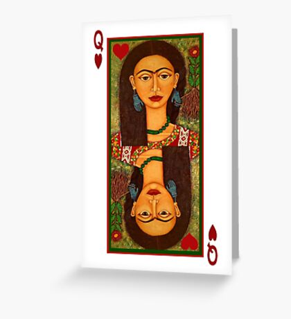 Frida, queen of hearts  Greeting Card