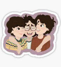 ♡ - Mike wheeler , Richie Tozier & Finn Wolfhard sicker by Jordanxclaghorn Sticker