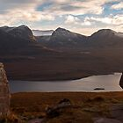 Coigach Mountains across Loch Lurgainn by derekbeattie