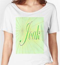 Joak's  The Flower of Scotland wurds an' aw. Women's Relaxed Fit T-Shirt