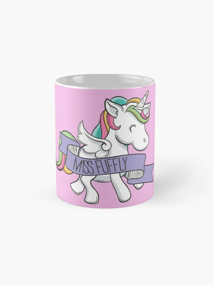 Alternate view of Fuflly Unicorn  Mugs