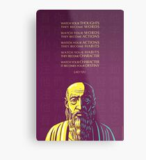 Lao Tzu quote: Watch your thoughts Metal Print