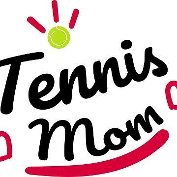 Tennis Shirt Mom Mom Bat Tennis Ball Gift by Rueb