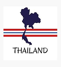 Thailand - map - national colors Photographic Print