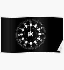 Interstellar - Wut gegen das Sterben des Lichts (Ausdauer / Uhr Design) Poster
