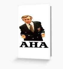 "Alan Partridge ""AHA"" Greeting Card"