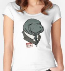 Hugh Manatee Women's Fitted Scoop T-Shirt