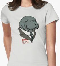 Hugh Manatee Women's Fitted T-Shirt