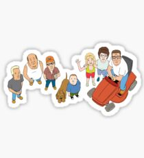 King of the Hill Family Sticker
