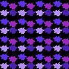 Paint Splats Purple Hues by dkatesmith