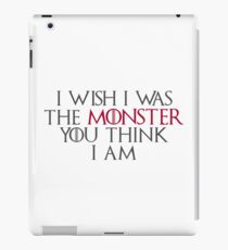 I Wish I Was The Monster... iPad Case/Skin
