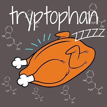 Tryptophan Thanksgiving Turkey, Organic Chemistry, Carbon Skeleton, STEM by LouisianaLady
