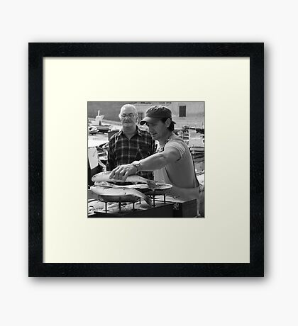 Market Series - The scales never lie Framed Print