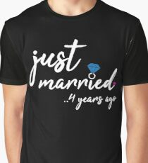 4th Wedding Anniversary Gifts - Just Married 4 Years  Graphic T-Shirt