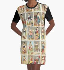 Occupations for Women Series Trading Cards Massive collage Graphic T-Shirt Dress