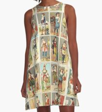 Occupations for Women Series Trading Cards Massive collage A-Line Dress