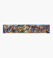 Super Smash Bros Ultimate Poster All Characters Photographic Print