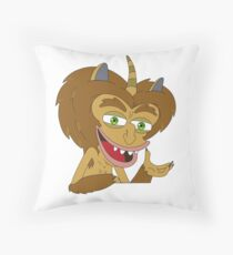 Maury the Hormone Monster - Big Mouth Throw Pillow