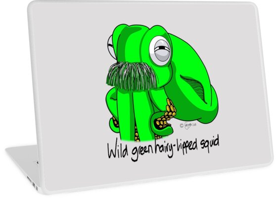 Wild Green Hairy Lipped Squid #4 by MALC-OLM