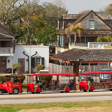 Sightseeing train, St Augustine, Florida by FranWest