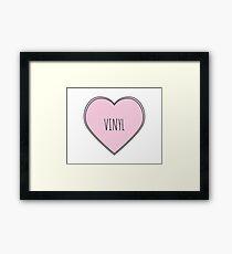 Vinyl Heart Framed Print