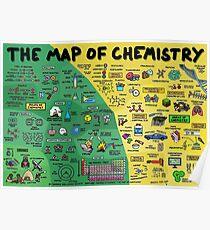 Die Karte der Chemie - Poster