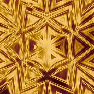 Bold copper striped kaleidoscope by hereswendy