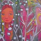 Kwan Yin In The Enchanted Forest by Ella May