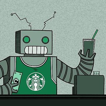 I'm a robot working at Starbucks by KenneDuck