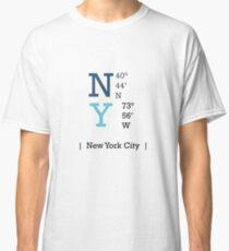 Longitude and Latitude - NY Classic T-Shirt