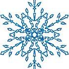 Blue Glittery Look Snowflake #6 by CheriesArt