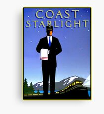 AMTRAK : Vintage Coast Starlight Train Advertising Print. Canvas Print