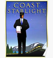 AMTRAK: Vintage Coast Starlight Train Werbedruck. Poster
