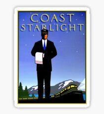 AMTRAK: Vintage Coast Starlight Train Werbedruck. Sticker