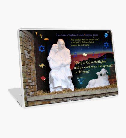 Heilige Familien-Weihnachtskarte Laptop Folie