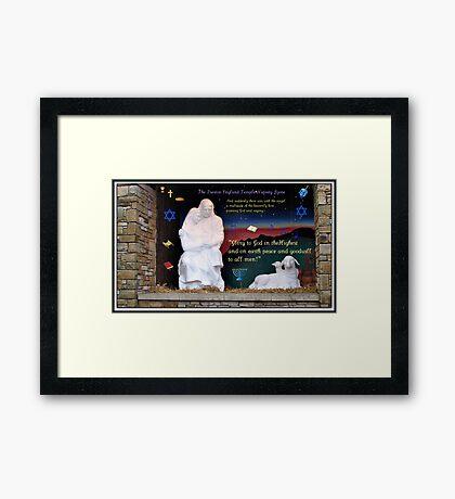 Heilige Familien-Weihnachtskarte Gerahmter Kunstdruck