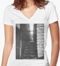 Behind The Locked Gate Women's Fitted V-Neck T-Shirt