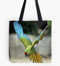 PARROT ON OIL Tote Bag